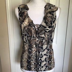 Rampage snake print sleeveless top - Large